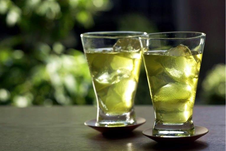 Agua de té verde…congelado!